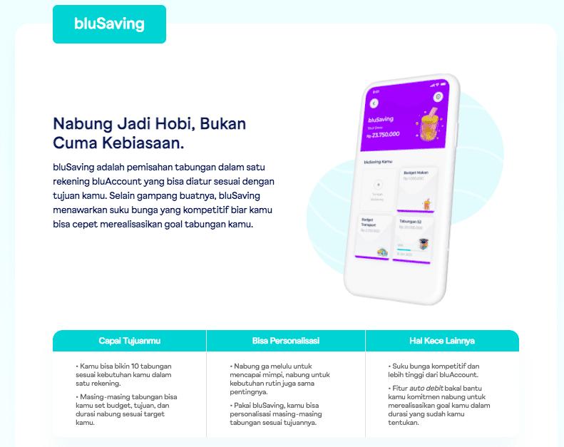 fitur blusaving Review Aplikasi blu Review Jujur Aplikasi blu Aplikasi blu by BCA Digital